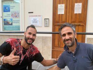 Osmany Juantorena a Porto San Giorgio. Incontro con Volley Angels e assessore Vesprini
