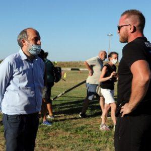 Luca Bigi al campo di Rugby di Marina Palmense. Si va verso la riqualificazione