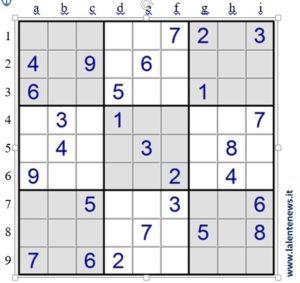 Lezioni di sudoku (3) – Tecniche elementari, seconda parte