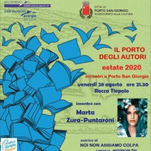 "Porto San Giorgio. Al ""Porto degli autori"" arriva Marta Zura Puntaroni"