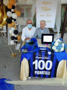 Filippo Pignatelli compie 100 anni. Festa al Sassatelli e targa ricordo di Gramegna
