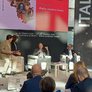 Grand Tour delle Marche miglior iniziativa o evento nel 2020 per il Gruppo Stampa Turistica Italiana. La premiazione al TTG di Rimini