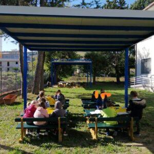 Spazi esterni disponibili per la scuola dell'Infanza Lido San Michele di Fermo
