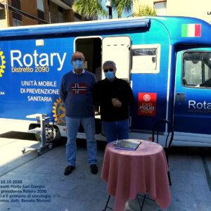 Prevenzione sanitaria. Oggi e domani il camper del Rotary in piazza Matteotti a Porto San Giorgio